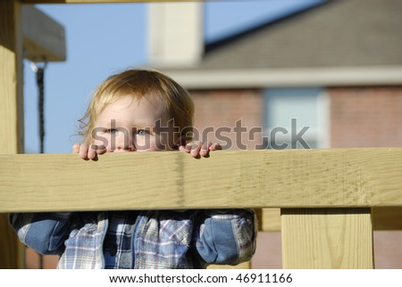 Child enjoying a playful afternoon on a nice sunny day.