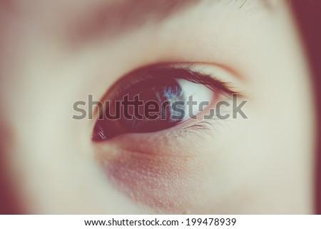 child eye - stock photo