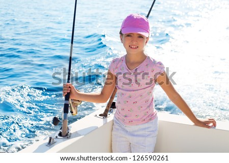 Offshore fishing stock images royalty free images for Girl fishing pole