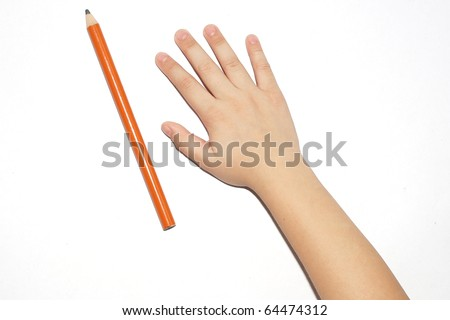 Child hand - stock photo
