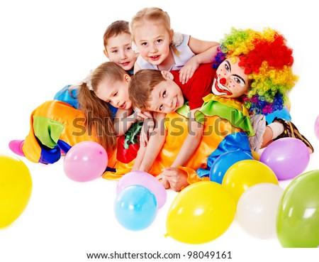 Child happy birthday party . - stock photo