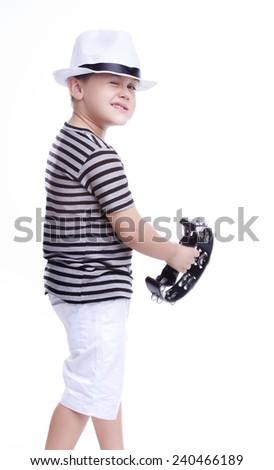 Child having fun at Carnival in Brazil - stock photo