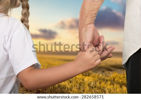 Child, Human Hand, Family. - stock photo