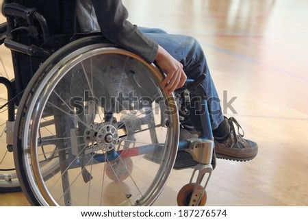 Child in a wheelchair