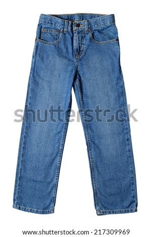 Child jeans isolated on white background