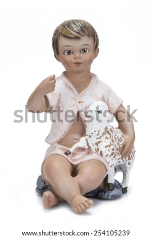 Child Jesus image isolated on a white background - stock photo