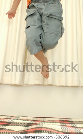 child jumping - stock photo