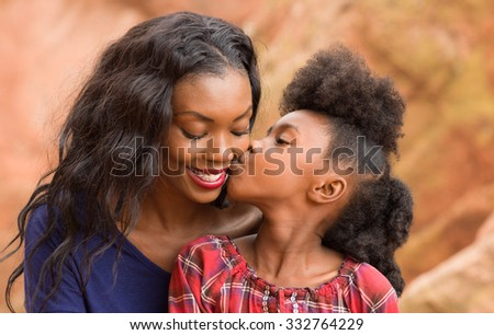 Child Kiss Happy Mother