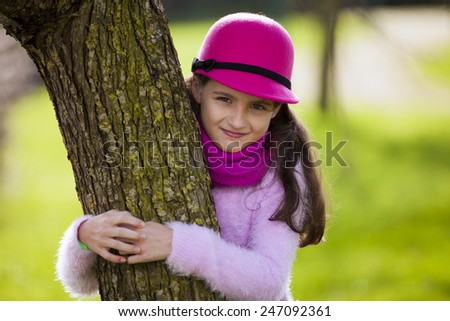 Child loving nature - stock photo