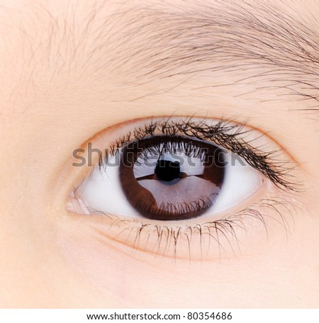 Child macro closeup eye
