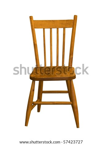 child maple wood chair on a white background