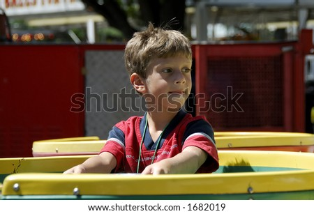Child on a Carnival Ride