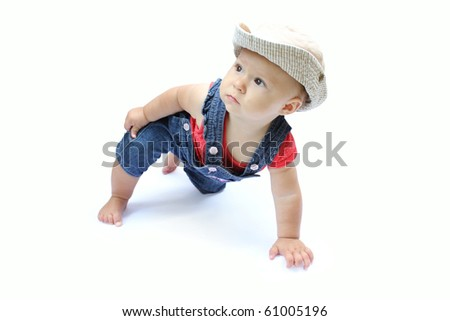 child on a white background