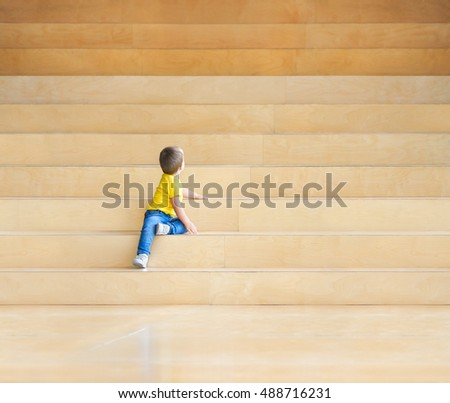 child on the stairs