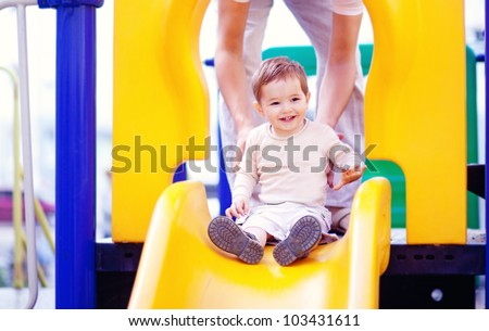 Child outdoors on playground
