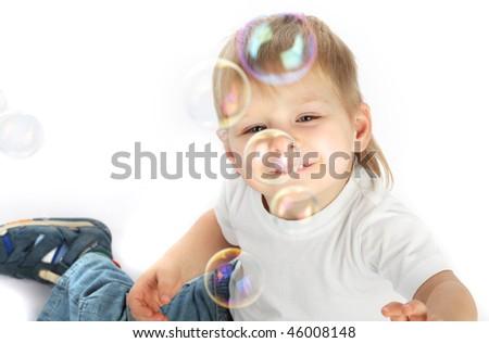 child play bubble - stock photo