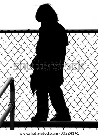 Child Playground Silhouette - stock photo