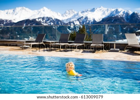 Kids Swimming In A Lake mother baby play outdoor swimming pool stock photo 613007414
