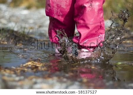 Child playing in water!