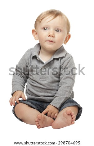 child portrait isolated on white background