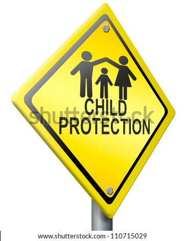 child protection safe happy family warm home young family father mother and child silhouette protect son daughter raising kids by parents parental care - stock photo