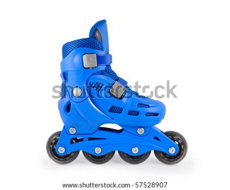 Child roller skate - stock photo
