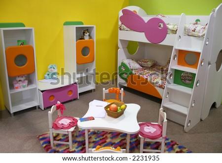 child room, playroom - stock photo
