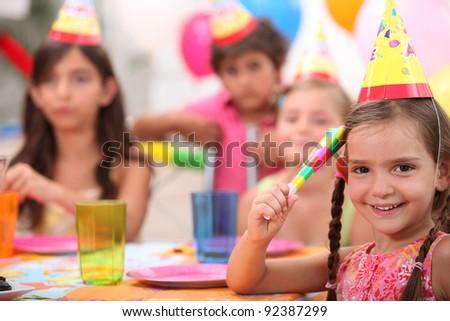 Child's birthday party - stock photo
