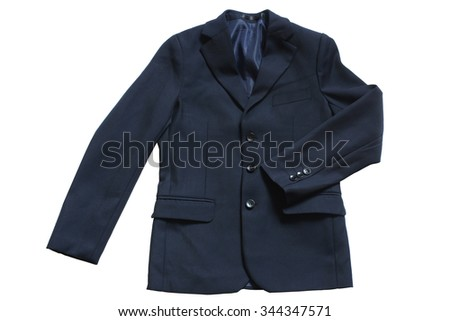 Child's classic jacket isolated on white background