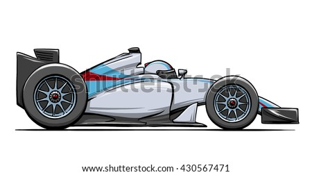 Close collectible car over white background stock photo 6351586 childs funny cartoon formula race car illustration art malvernweather Choice Image