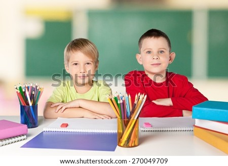 Child, school, student. - stock photo