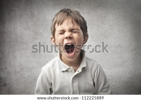 Child shouting - stock photo