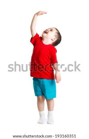 child showing grow - stock photo