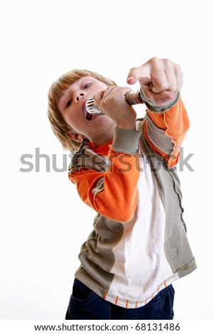 Child Sing a Song - stock photo