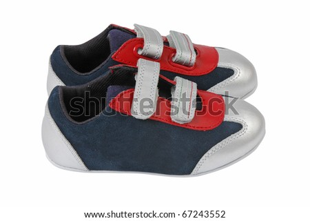 child sneakers - stock photo