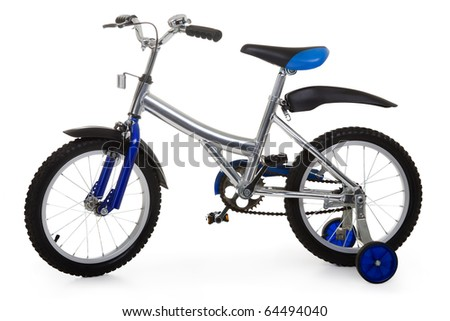 Child sport pedal wheel cycling metal bicycle toy - stock photo