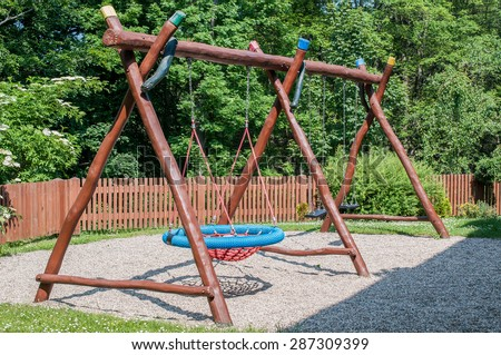 child swing - stock photo