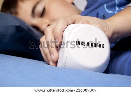 child take a break - stock photo