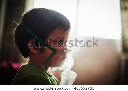 Child taking nebuliser respiratory therapy! Looking to distance