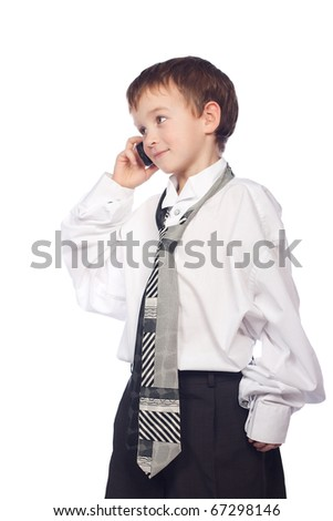Child talking on mobile phone