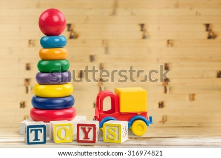 Child Toys. - stock photo