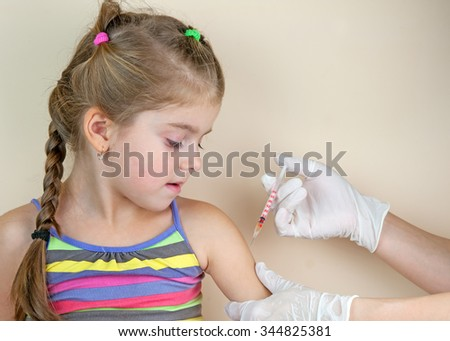 child vaccinations close up - stock photo