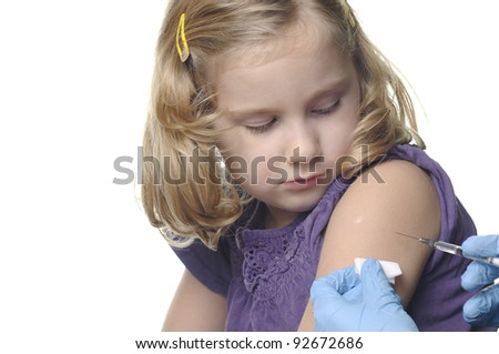 Child vaccinations on a white. OTHER PHOTOS FROM THIS SERIES IN MY PORTFOLIO. - stock photo
