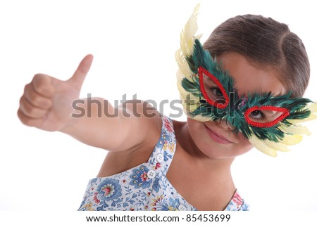 child with thumb up - stock photo