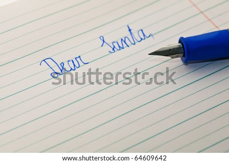 Child writes a letter to Santa Claus
