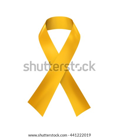 Childhood Cancer Awareness Ribbon. 3D rendering - stock photo