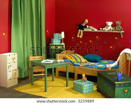 childish room - stock photo