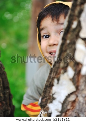 Children activity  in nature
