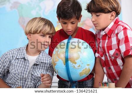 Children at school - stock photo