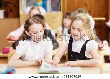 Children at school - stock photo